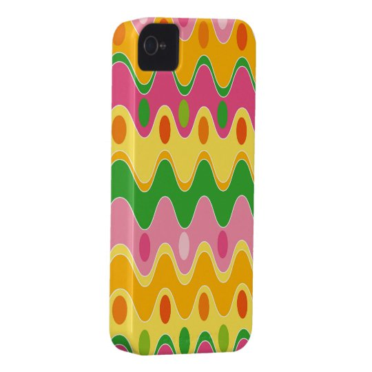 Retro Abstract Colourful Zig Zag iPhone 4 CaseMate iPhone 4 Case-Mate Cases