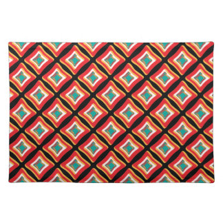 Retro Abstract Fun Patterns Place Mat