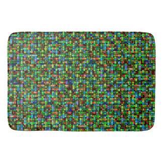Retro abstract modern bath mat