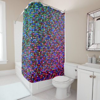 Retro abstract modern Shower Curtain