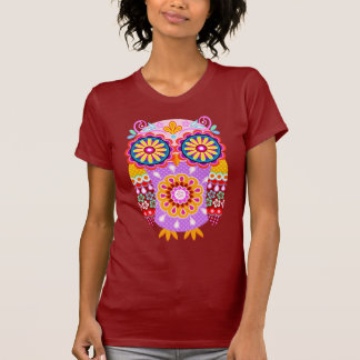 Retro Abstract Owl Shirt