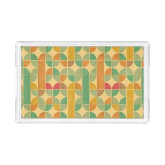 Retro abstract pattern acrylic tray