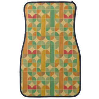 Retro abstract pattern car mat