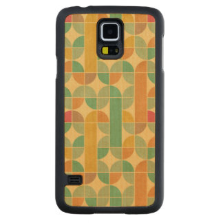 Retro abstract pattern carved maple galaxy s5 case