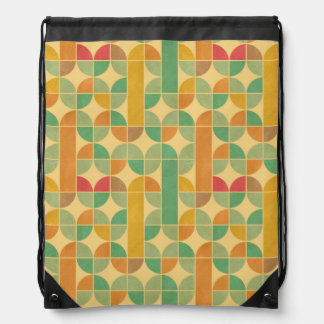 Retro abstract pattern drawstring bag