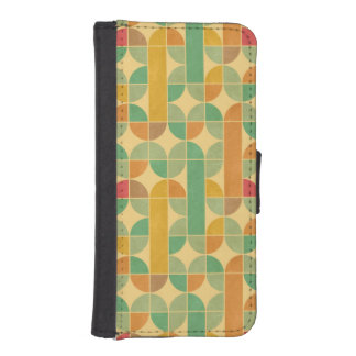Retro abstract pattern iPhone SE/5/5s wallet case