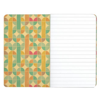 Retro abstract pattern journal