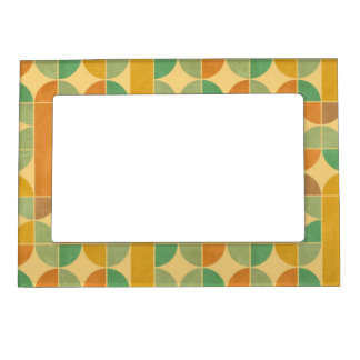 Retro abstract pattern magnetic picture frame
