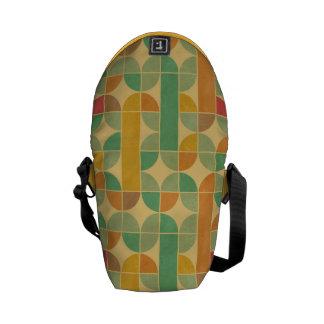 Retro abstract pattern messenger bag