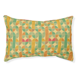 Retro abstract pattern pet bed