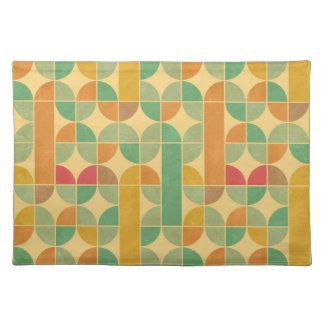 Retro abstract pattern placemat