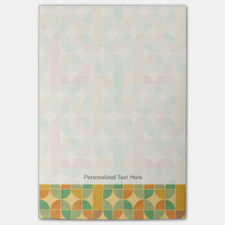 Retro abstract pattern post-it notes