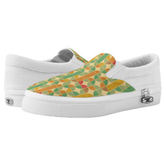 Retro abstract pattern Slip-On shoes