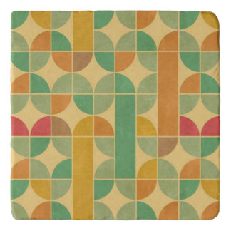 Retro abstract pattern trivet