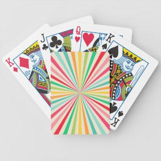 Retro Abstract Rainbow Art Bicycle Poker Deck