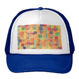 Retro Abstract Rainbow Art Design Mesh Hats