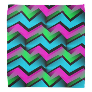Retro Abstract Zigzag Pattern Bandana