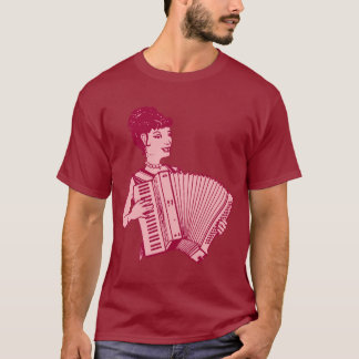 Retro Accordion Lady T-Shirt