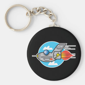 retro aeroplane jet key ring