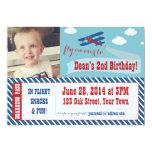 Retro Aeroplane Party Invitations