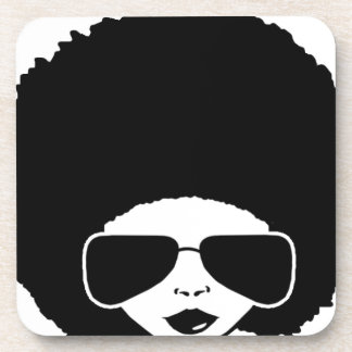 retro Afro girl Coaster