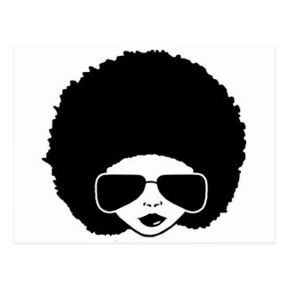 retro Afro girl Postcard