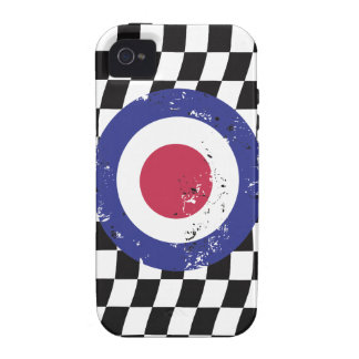 Retro Aged mod target on Checks iPhone 4 Case