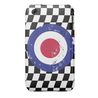 Retro Aged mod target on Checks iPhone 3 Case-Mate Cases