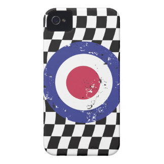 Retro Aged mod target on Checks Case-Mate iPhone 4 Case