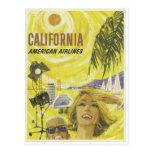 Retro Airlines California Advertisement Post Cards
