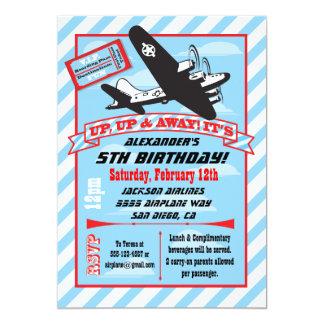 Airplane Birthday Invitations Announcements Zazzlecouk