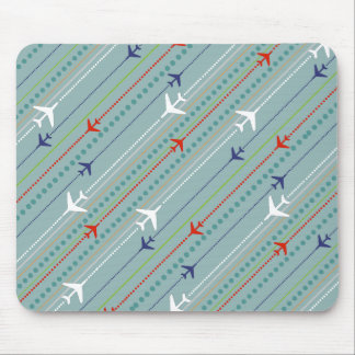 Retro Airplane Pattern Mousepad