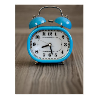 Retro Alarm Clock Postcard