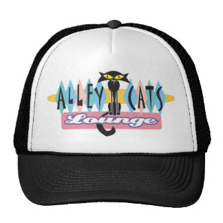 retro alley cats lounge sign cap