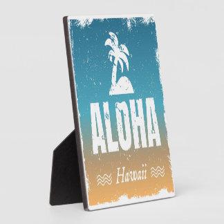 Retro Aloha Hawaii Plaque