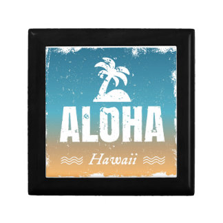 Retro Aloha Hawaii Small Square Gift Box