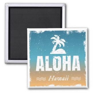 Retro Aloha Hawaii Square Magnet