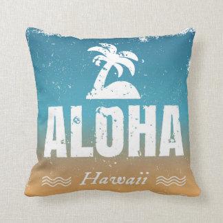 Retro Aloha Hawaii Throw Pillow
