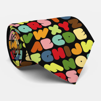 Retro Alphabet Letters Teacher tie