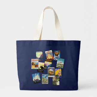 Retro America Travel Totes