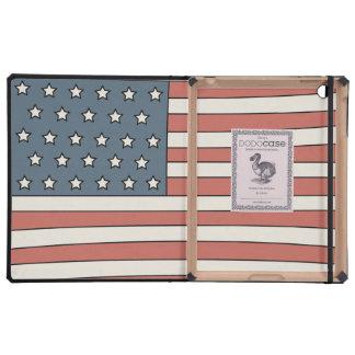 Retro American Flag iPad Case