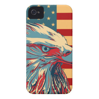 Retro American Patriotic Eagle Flag Case-Mate iPhone 4 Case