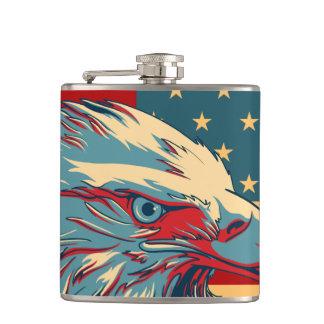 Retro American Patriotic Eagle Flag Hip Flask
