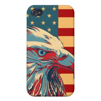 Retro American Patriotic Eagle Flag iPhone 4/4S Case