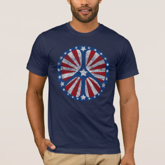 Retro American Peace Sign T-Shirt