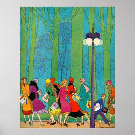 Retro and Art Deco Poster Print | Zazzle.co.uk