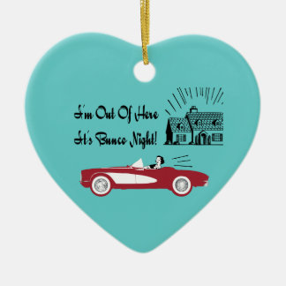 Retro and Vintage Bunco Red Convertible Ceramic Heart Decoration