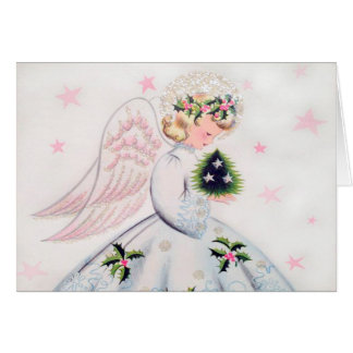 Retro Angel Christmas Card