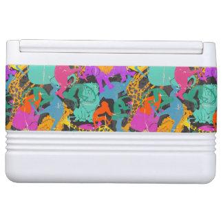 Retro Animal Silhouettes Pattern Igloo Cooler