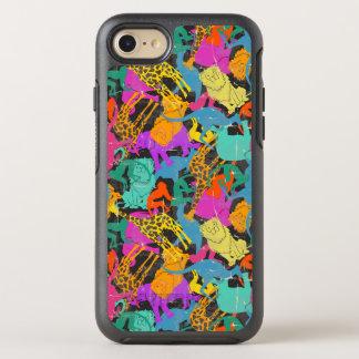 Retro Animal Silhouettes Pattern OtterBox Symmetry iPhone 8/7 Case